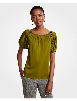 Bubble Sleeve Top by Ann Taylor