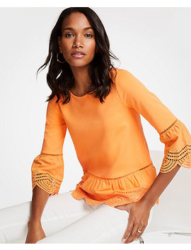 Eyelet Hem Top by Ann Taylor