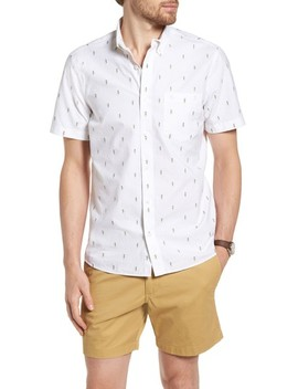 Trim Fit Hula Embroidered Sport Shirt by 1901