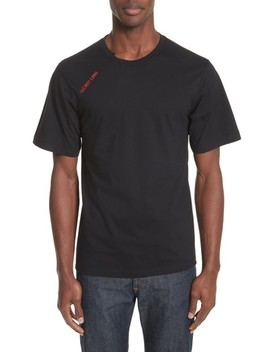 Cut Neck T Shirt by Helmut Lang