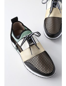 Arctic Green Multi Cutout Sneakers by Steve Madden