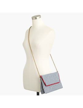 Convertible Envelope Clutch In Stripe by J.Crew