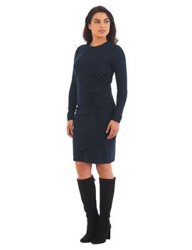 Ruched Pleat Cotton Knit Sheath Dress by Eshakti