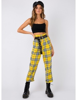 Miss Davenport Pants Yellow by Princess Polly