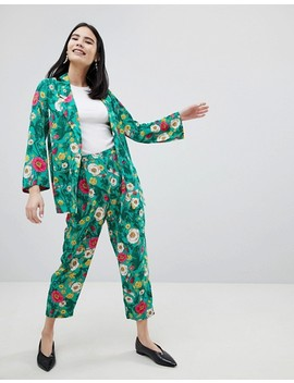 Monki Floral Print Blazer & Pants Two Piece by Monki