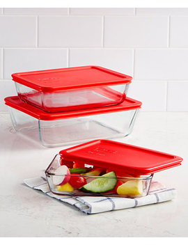 6 Pc. Rectangular Storage Set by Pyrex