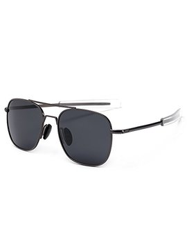 Sungait Men's Military Style Polarized Pilot Aviator Sunglasses   Bayonet Temples by Sungait