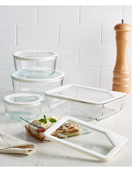 10 Pc. Ultimate White Storage Set by Pyrex