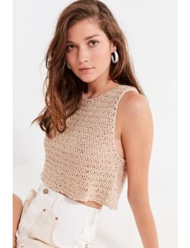 Uo Eleni Yarn Sweater Tank Top by Urban Outfitters