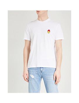 Smiley Cotton Jersey T Shirt by Ami Alexandre Mattiussi
