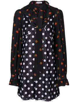 Polka Dot And Floral Print Dresshome Women Clothing Day Dresses by Jw Anderson