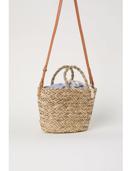 Straw Bag With Fabric Bag by H&M