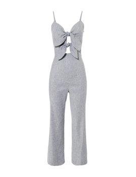 Jenny Double Tie Front Jumpsuit by Intermix