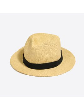Packable Straw Hat by J.Crew