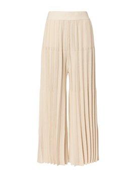 Beige Cropped Pleated Pants by Derek Lam 10 Crosby