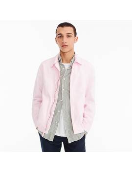 Point Collar Cotton Jacket by J.Crew