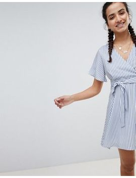 Pretty Little Thing Striped Tie Side Mini Dress by Pretty Little Thing