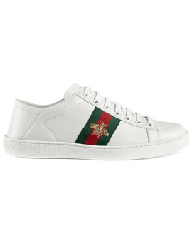 White Ace Leather Sneakershome Women Shoes Trainers by Gucci