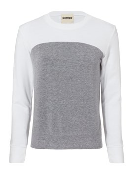 Colorblocked Sweatshirt by Monrow