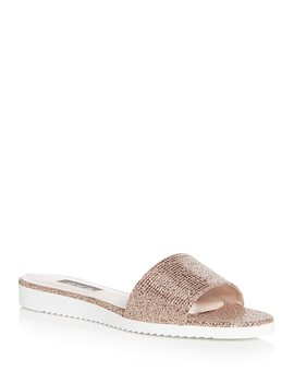 Women's Tropez Glitter Slide Sandals   100 Percents Exclusive  by Sjp By Sarah Jessica Parker