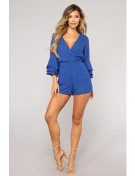 Sophie Romper   Royal by Fashion Nova