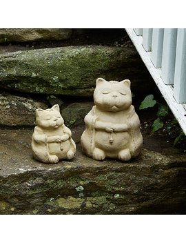 Zen Cat Garden Sculpture by Michael Gentilucci