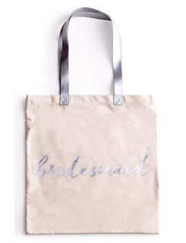 'bridesmaid' Canvas Tote by Rosanna