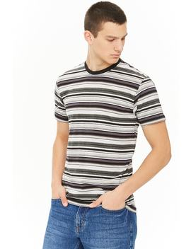 montage-striped-colorblock-tee by forever-21