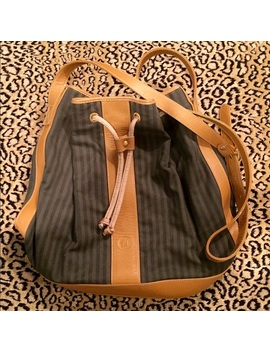 Authentic Vintage Fendi Pequin Bucket Bag Preowned/Used by Fendi