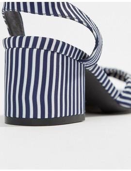 Oasis Stripe Block Heel Sandals by Oasis