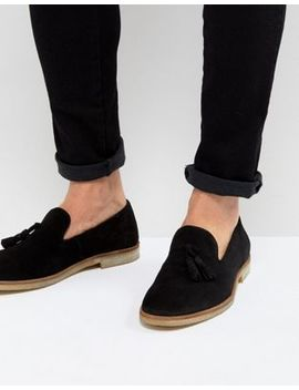 Asos Loafers In Black Suede With Natural Sole by Asos