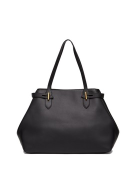 Belted Leather Tote Bag by Anne Klein
