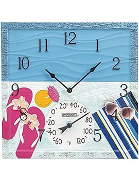 Springfield 92670 At The Pool Outdoor Clock And Thermometer, Polyresin by Springfield(R) Precision