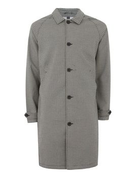 Navy Check Single Breasted Mac by Topman