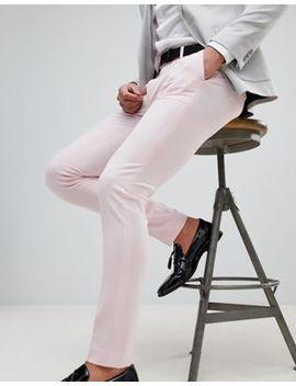 Asos Wedding Super Skinny Smart Pants In Pale Pink by Asos
