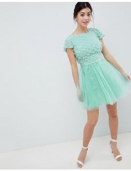 Chi Chi London Petite Floral Applique 2 In 1 Midi Dress by Chi Chi London Petite