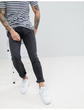 Pull&Bear Slim Fit Jeans In Black by Pull&Bear
