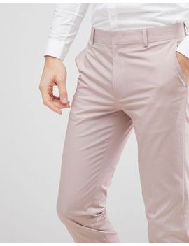 Asos Design Wedding Skinny Suit Pants In Putty Stretch Cotton by Asos