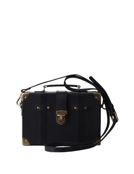 Lily's Trunk Box Leather Crossbody Bag by Most Wanted Usa