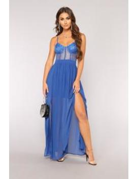 Something Special Lace Dress   Royal by Fashion Nova