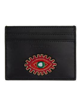 Black Eye Patch Card Holder by Saint Laurent