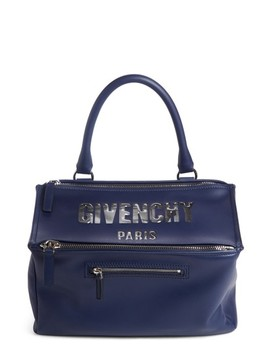 Medium Pandora Bubble Logo Leather Satchel by Givenchy