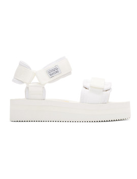 Off White Cel Vpo Sandals by Suicoke