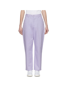 Purple Aleq Trousers by Acne Studios