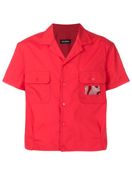 Shortsleeved Cropped Shirthome Men Clothing Shirts by Raf Simons