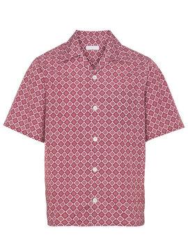 Patterned Bowling Shirthome Men Clothing Shirts by Prada