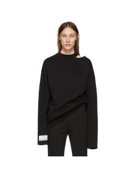 Black Open Shoulder Sweatshirt by Vetements