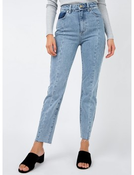 Abrand Blue Flower 94 High Slim Jeans by Abrand