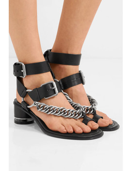 Jada Chain Embellished Leather Sandals by Alexander Wang