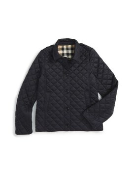 Mini Ashurst Diamond Quilted Jacket by Burberry
